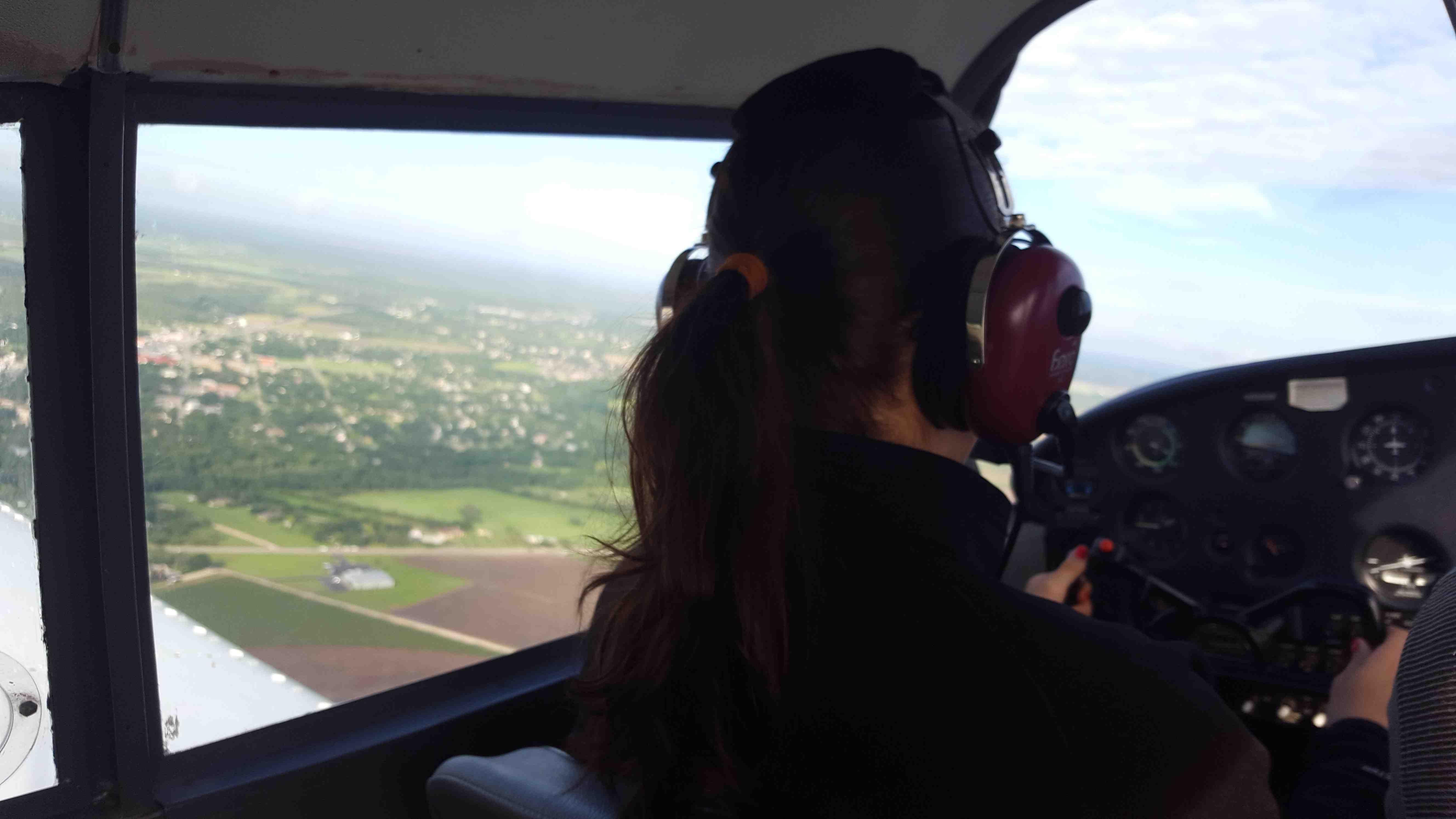Briana flying