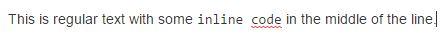inline code